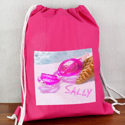 Personalised Swimming Goggles Pink Swim Bag